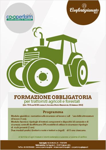Formazione obbligatoria per trattoristi agricoli e forestali