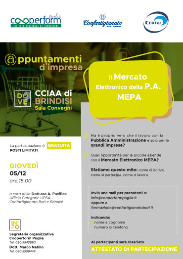 Il Mercato Elettronico della P.A. MEPA